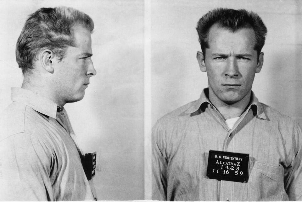 James Whitey Bulger - mugshot at Alcatraz (1959, age 30)