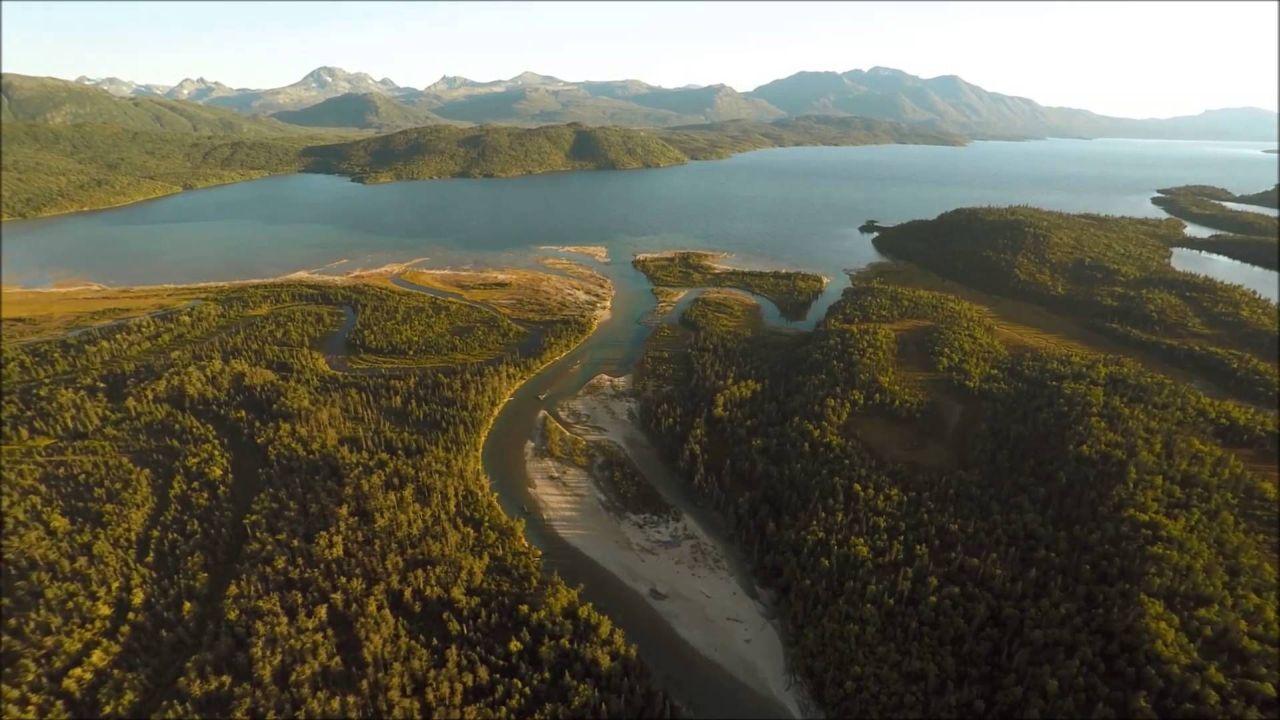 Lake Iliamna Salmon Migration – drone footage