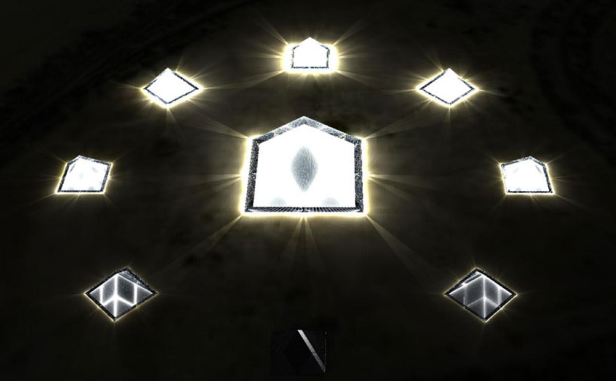 Lunar Cubit Solar Panel Pyramids – solar installation
