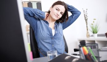 Neck Desk Stretch 1 345x200 Prevent Office Death with 12 Desk Stretches That Help You Live Longer