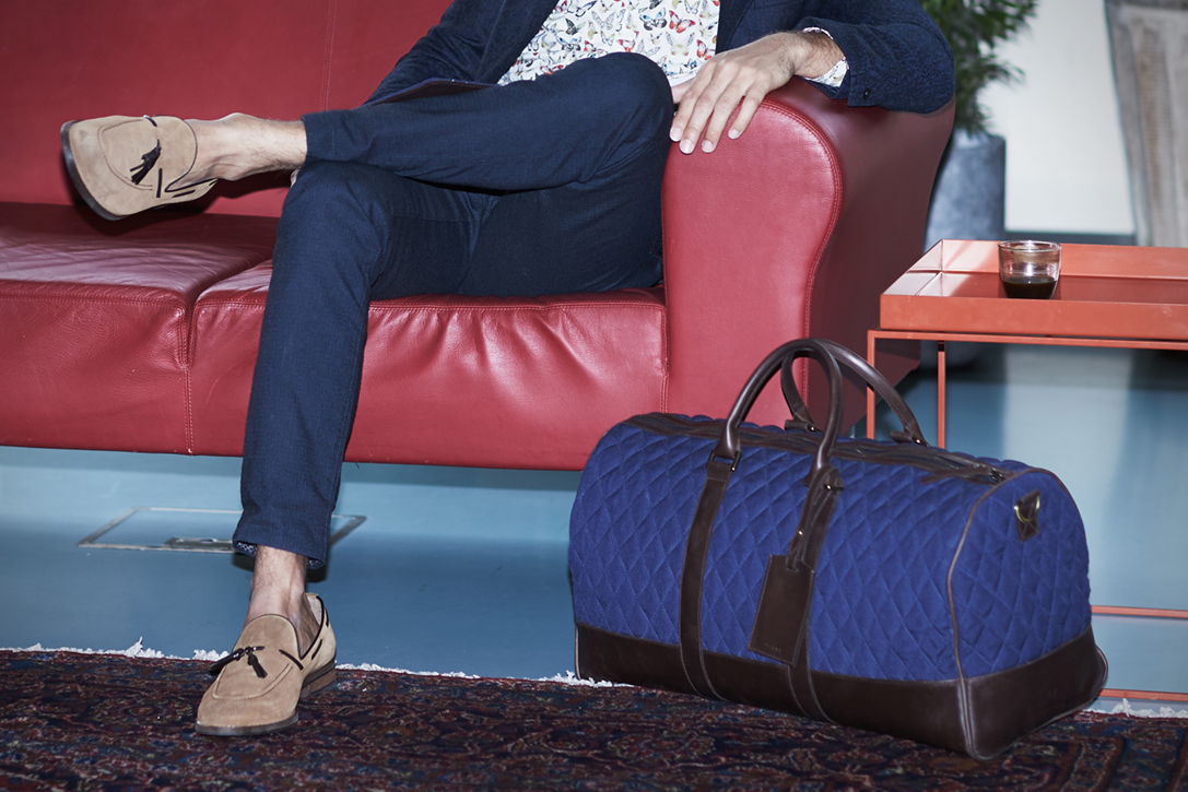 Plane Industries: luxury luggage made from recycled airport carpet