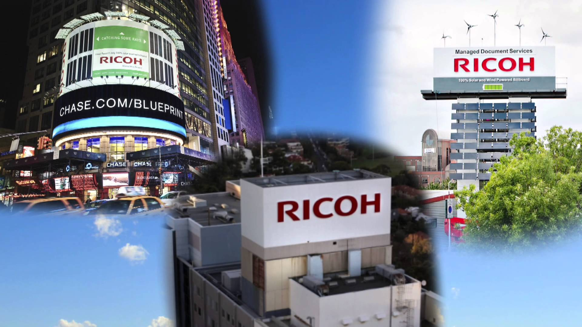 Ricoh Billboards – solar bulb installation