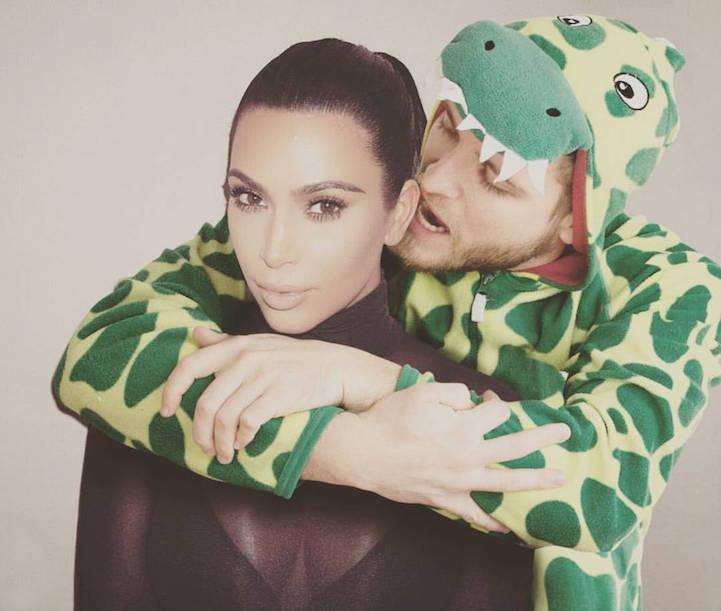Valentino with Kim Kardashian