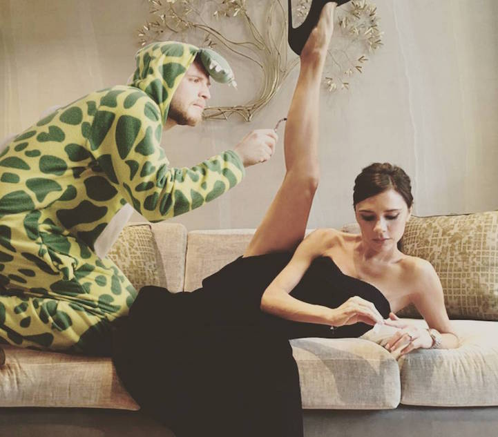 Valentino with Victoria Beckham