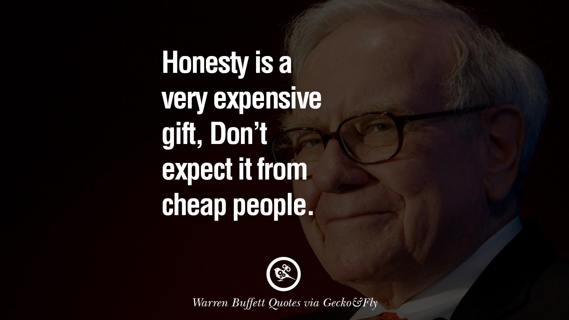 Warren buffet on honesty – life changing meme
