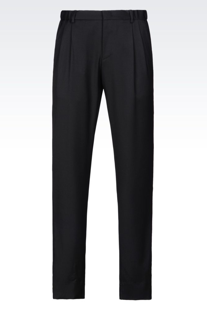 Armani Worsted Wool Trousers - summer dress pants for men
