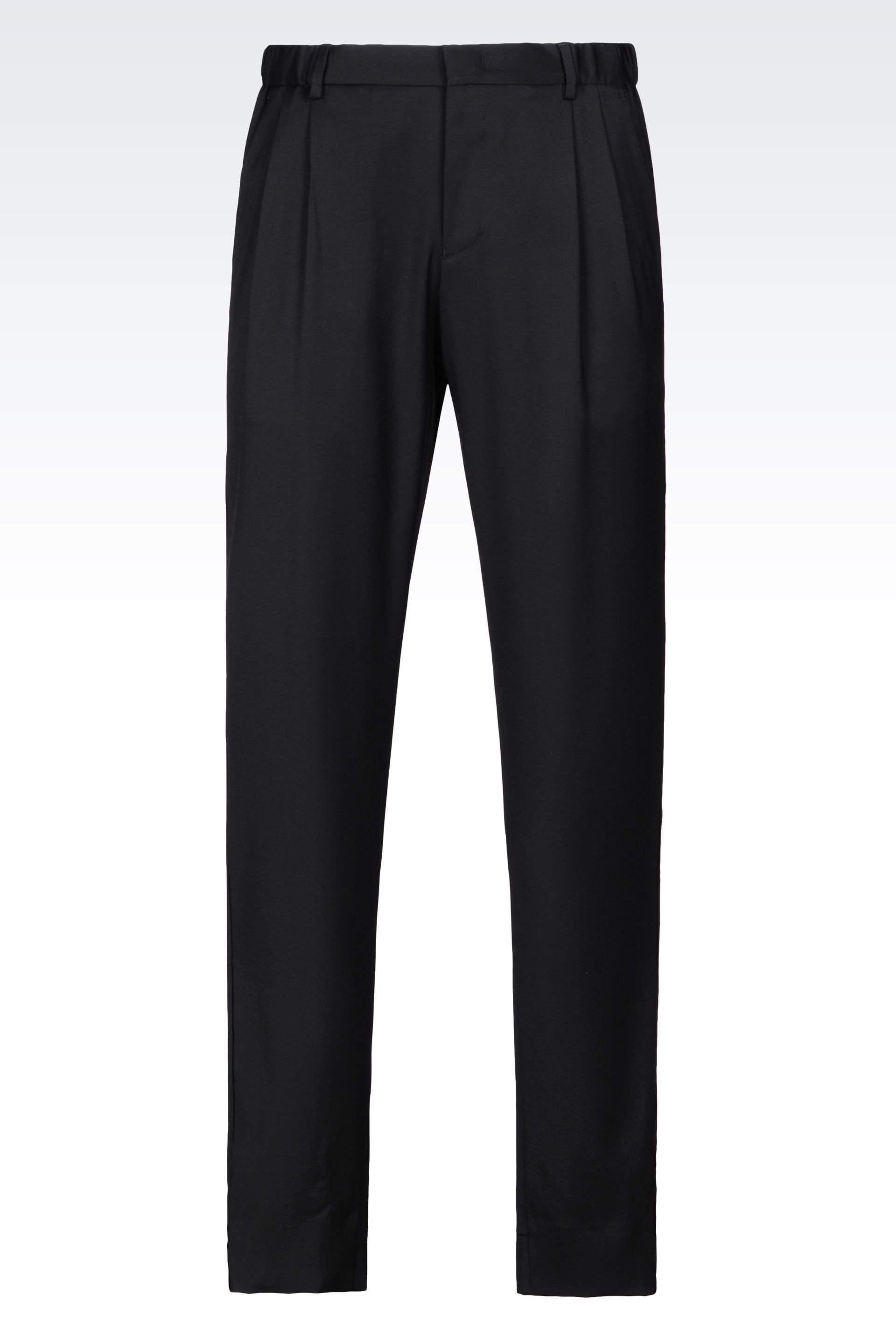 Armani Worsted Wool Trousers – summer dress pants for men