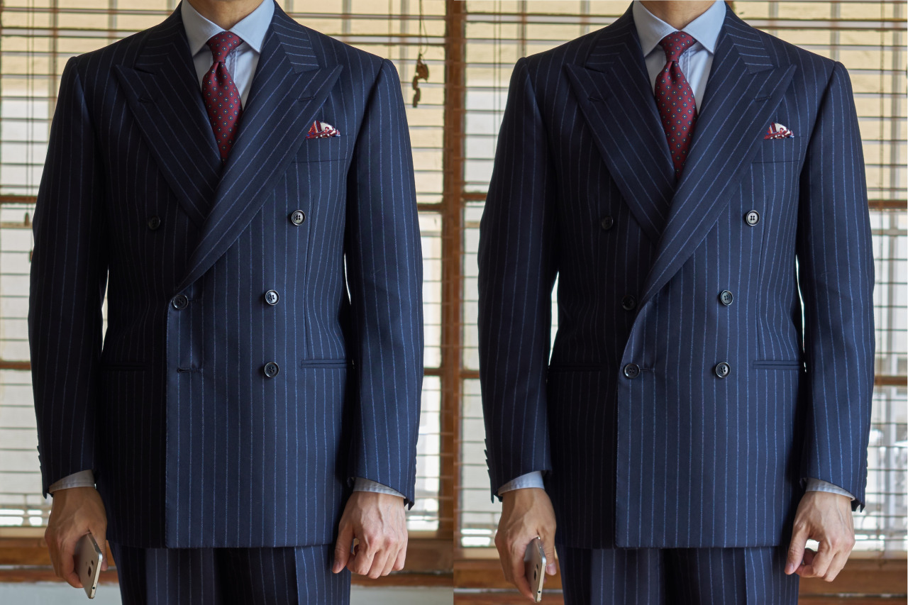 Bottom Button – double breasted suit