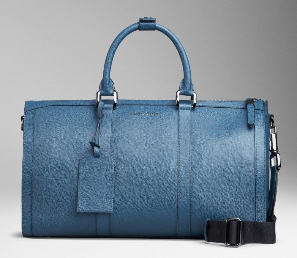 Burberry Grainy Leather Holdall – weekender bag for men