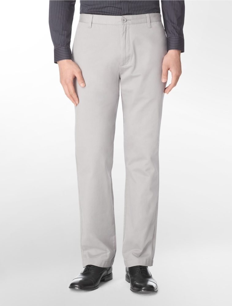 Calvin Klein Straight Fit Cotton Summer Pants for Men