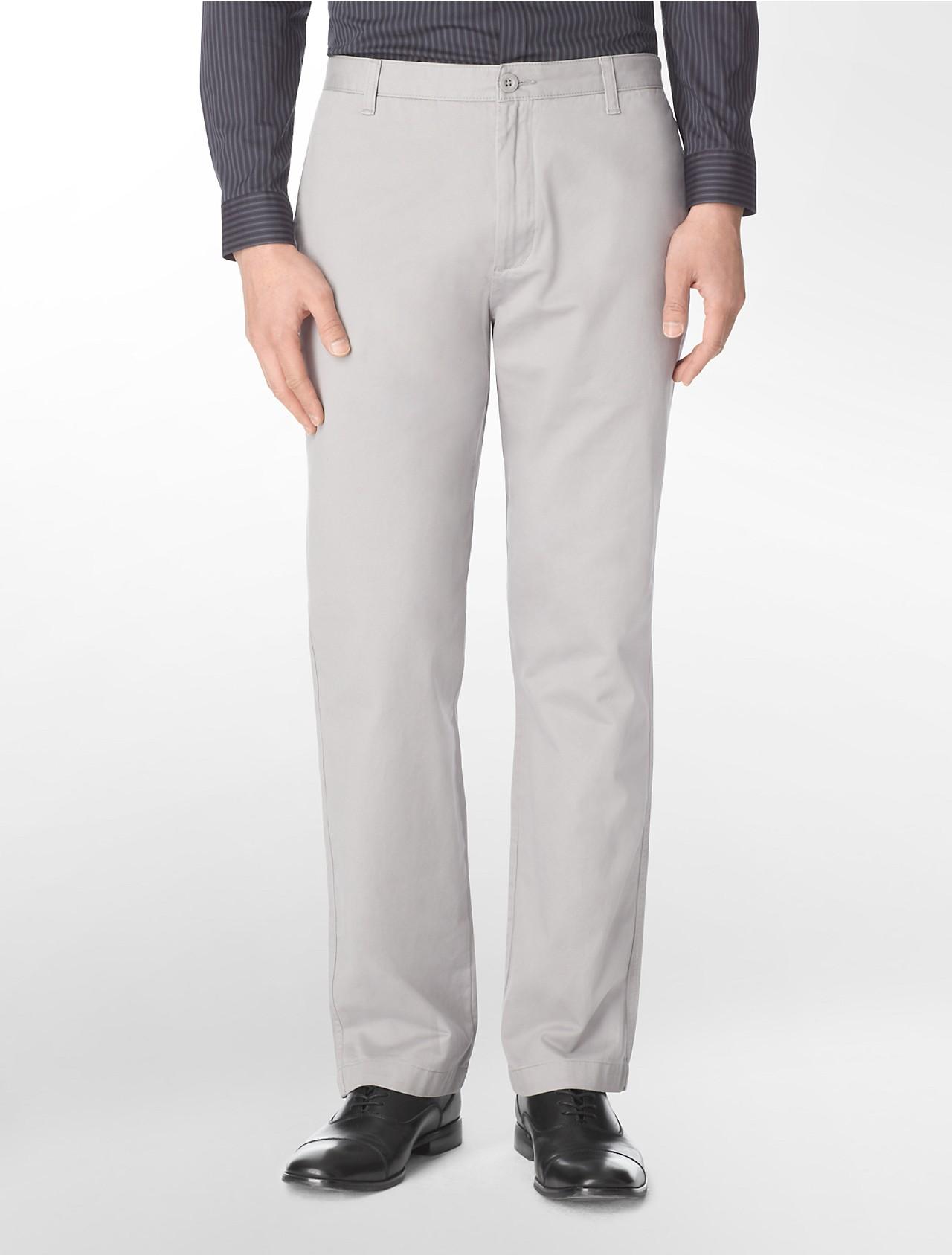 Calvin Klein Straight Fit Cotton Summer Pants for Men