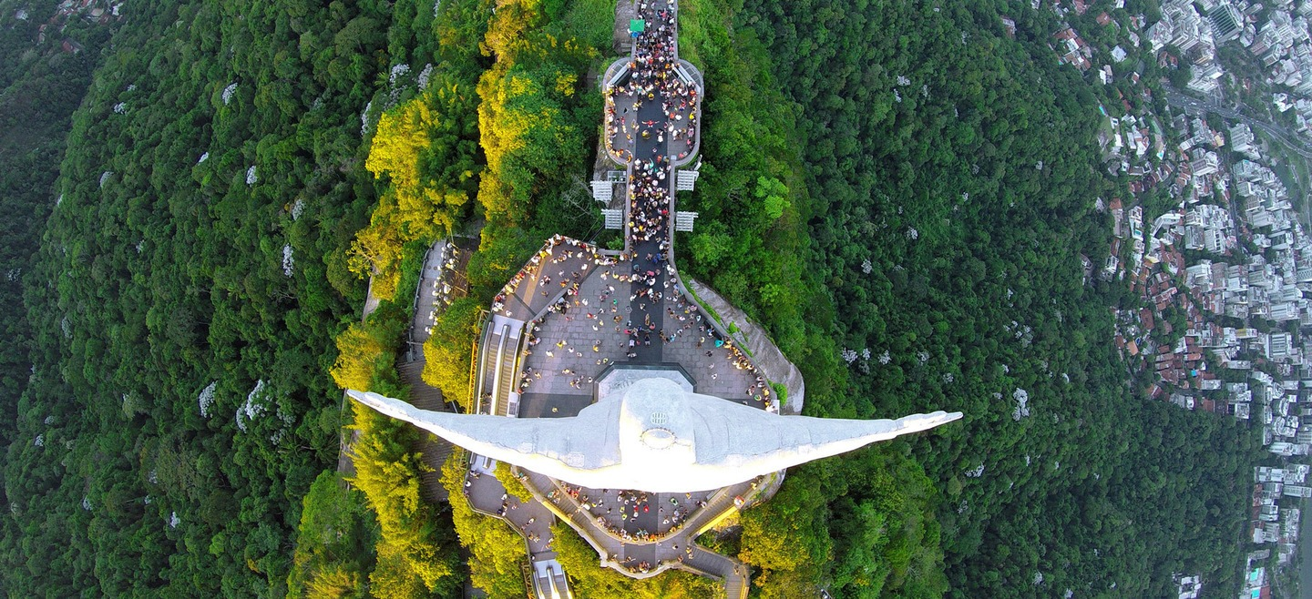 Christ the Redeemer – drone photo