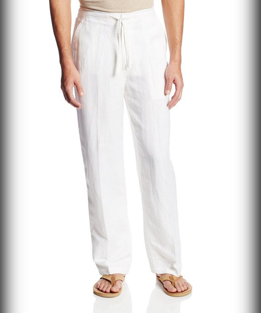 Cubavera Drawstring Summer Pant with Elastic Waistband for Men