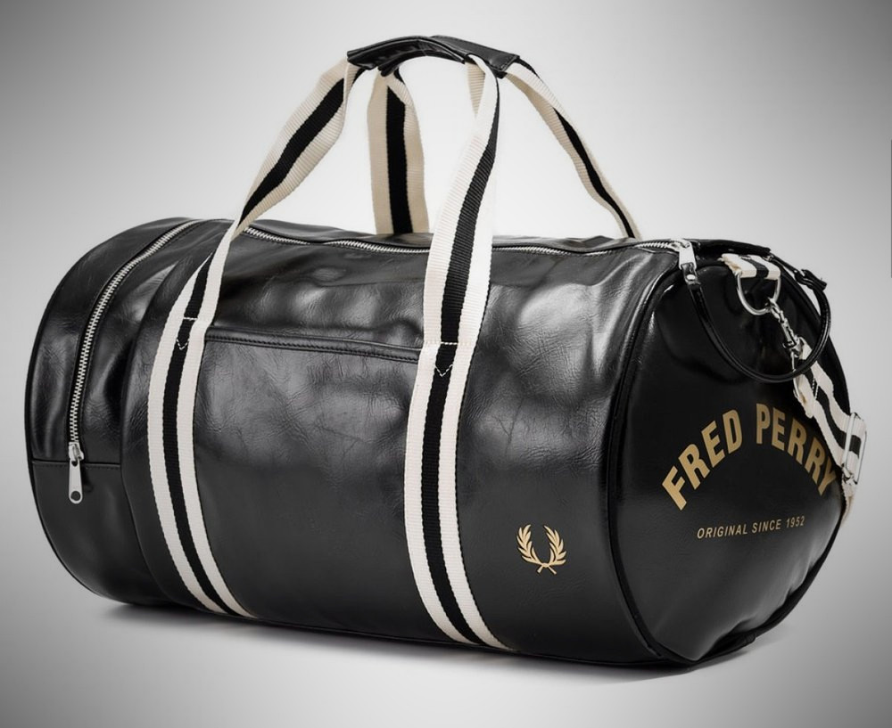 Fred Perry Men's Classic Barrel Bag – weekender for men