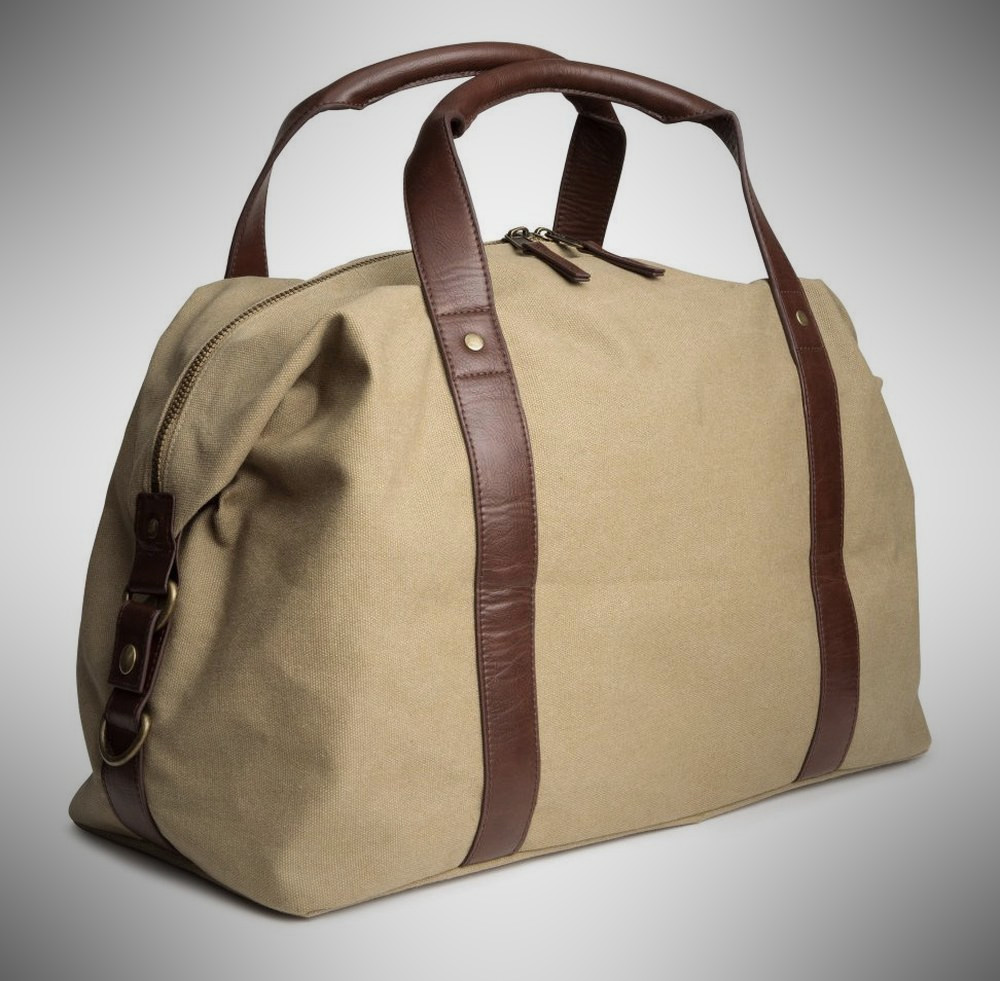 H&M Cotton Canvas Weekend Bag for Men