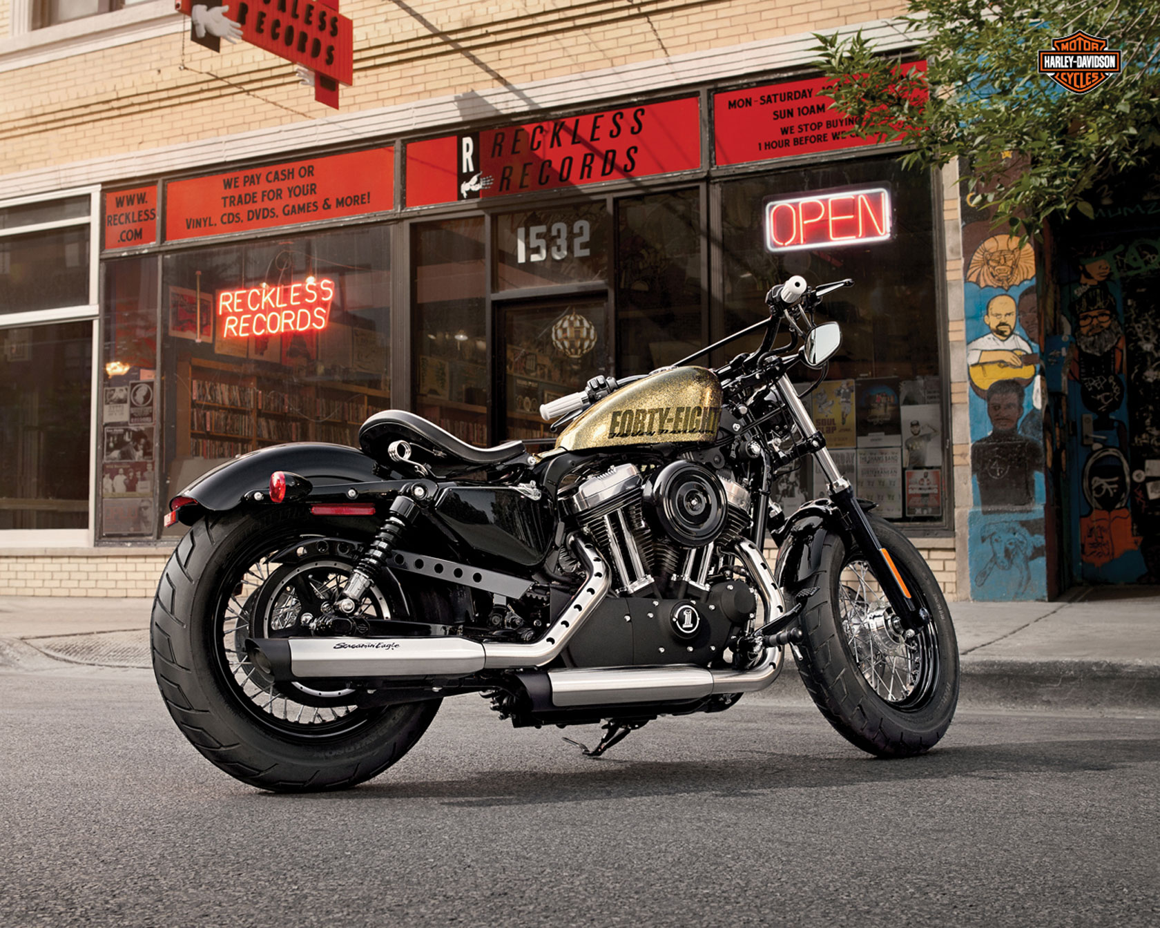 Harley Davidson Forty-Eight – retro motorcycle