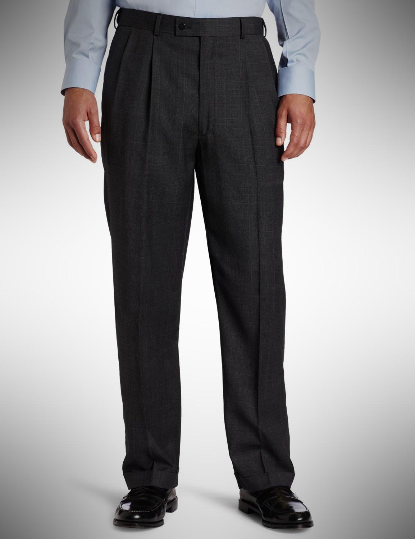 Louis Raphael LUXE Men's Pleated Wool Summer Pant for Men