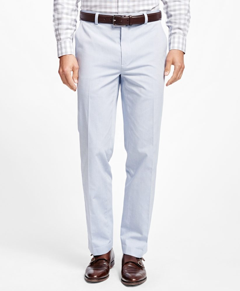 Non-Iron Clark Fit Supima® Cotton Oxford Chinos - summer dress pants for men