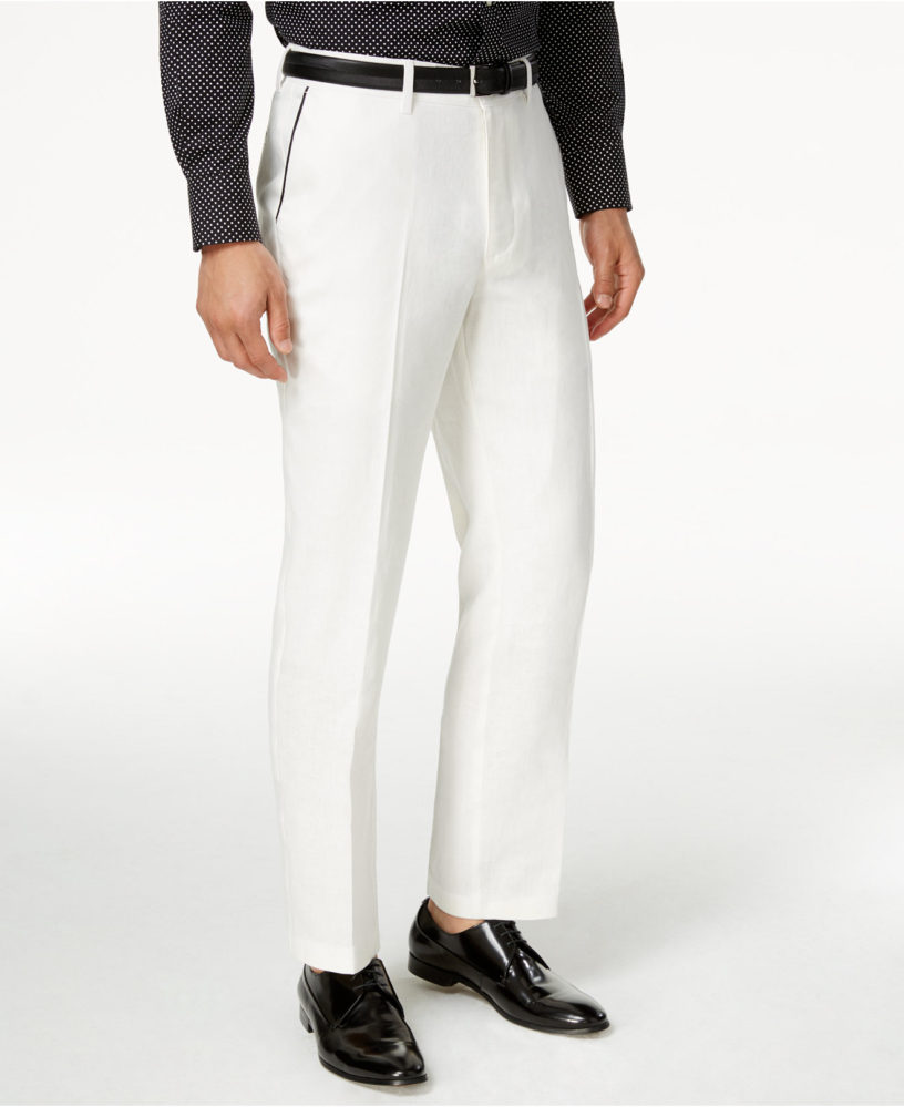 Sean John Cream Linen Summer Dress Pants