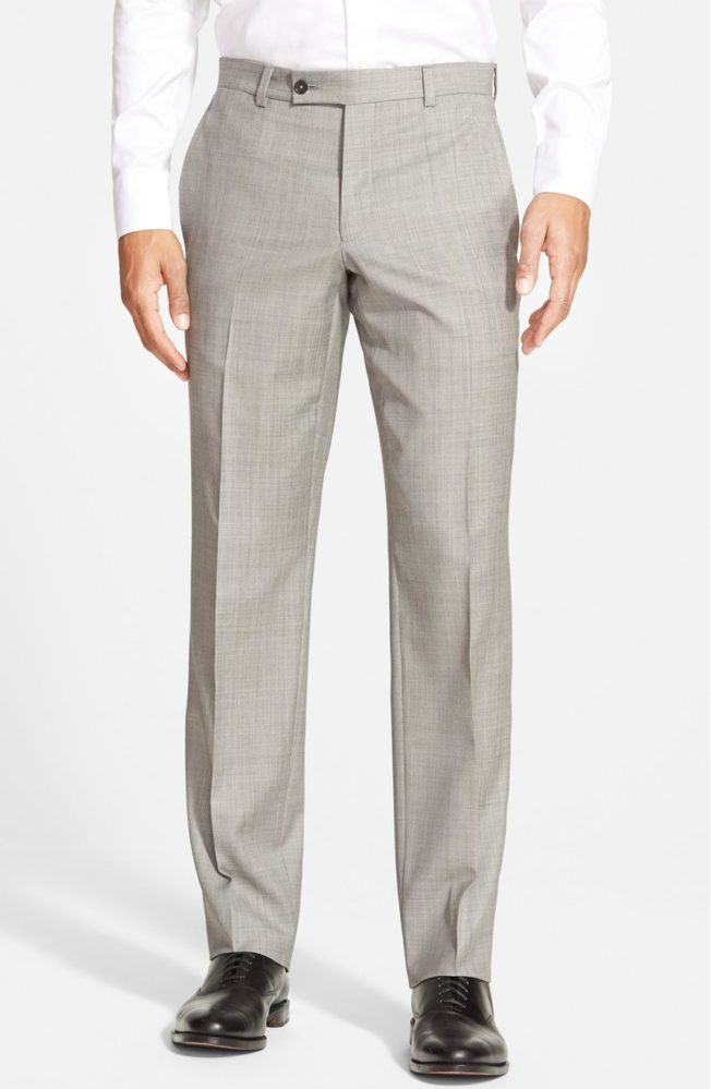 Ted Baker London 'Jefferson' Flat Front Wool Trousers - summer dress pants for men