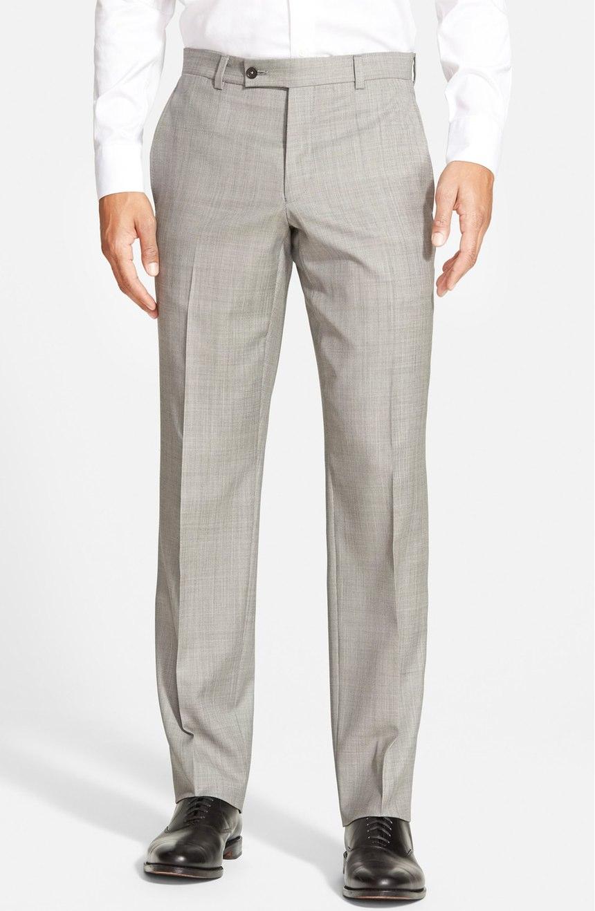 Ted Baker London 'Jefferson' Flat Front Wool Trousers – summer dress pants for men