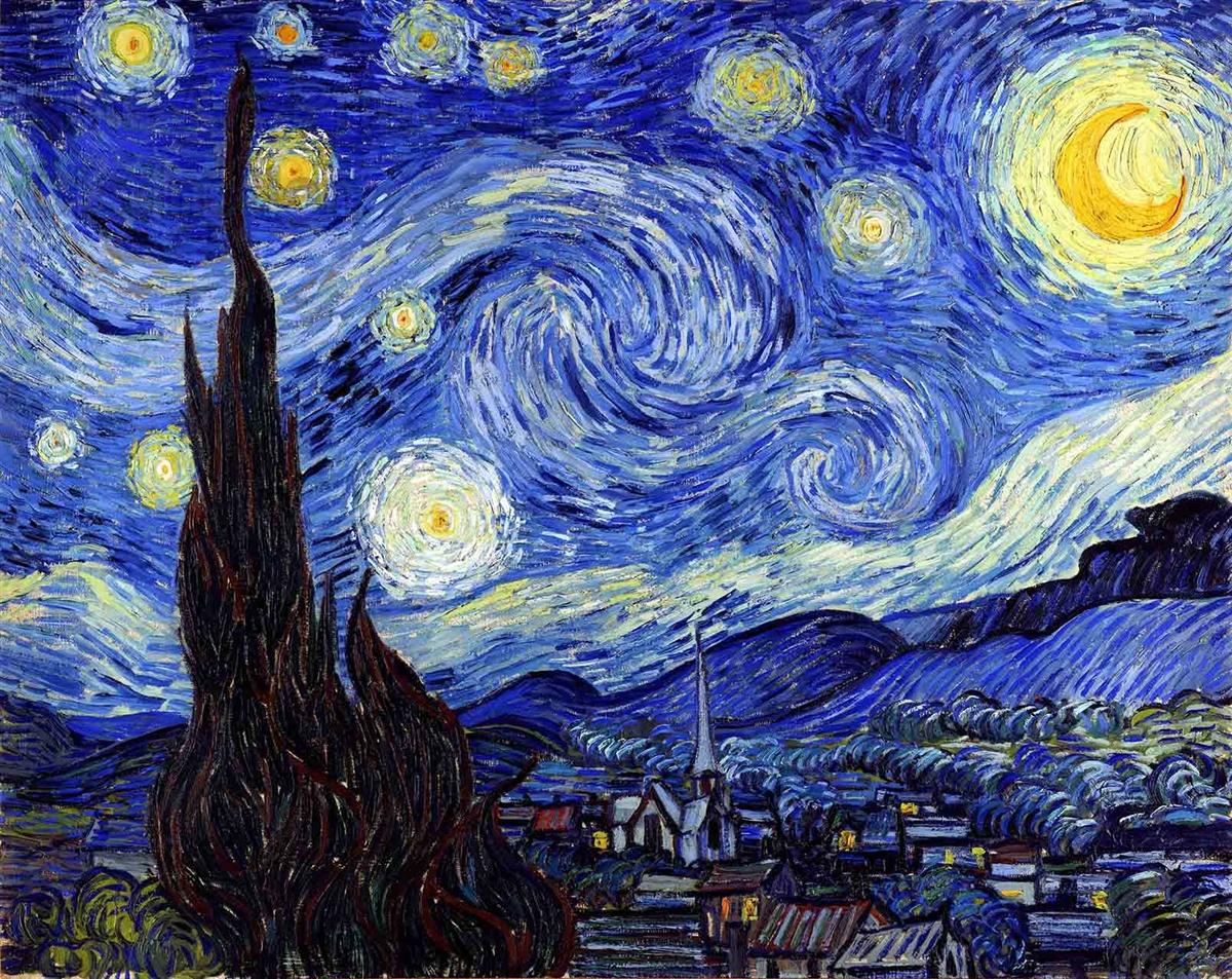 Van Gogh Starry Night – art for men