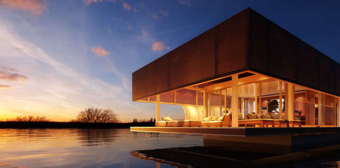 The Waterlovt Luxury Houseboats Are Eco-friendly, Self-sufficient and Self-sustaining