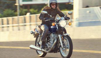 Yamaha SR400 retro motorcycle