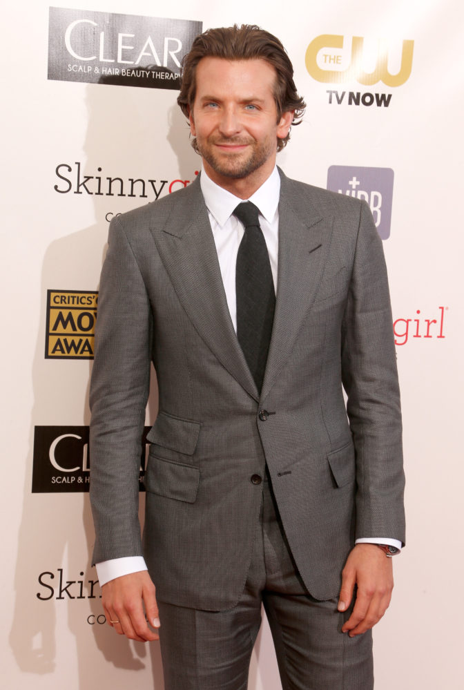 Bradley Cooper Gray Suit 672x999 Style Guide: How To Wear A Gray Suit With Brown Shoes