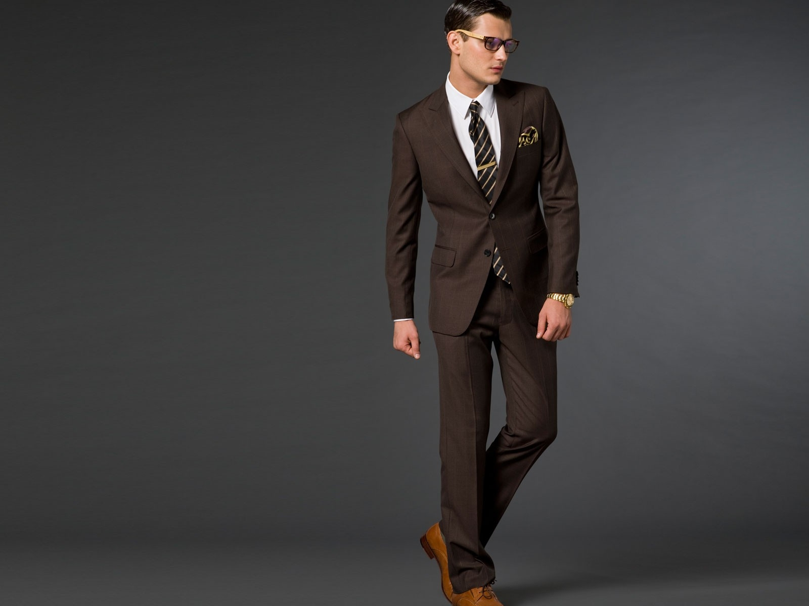 Brown suit color