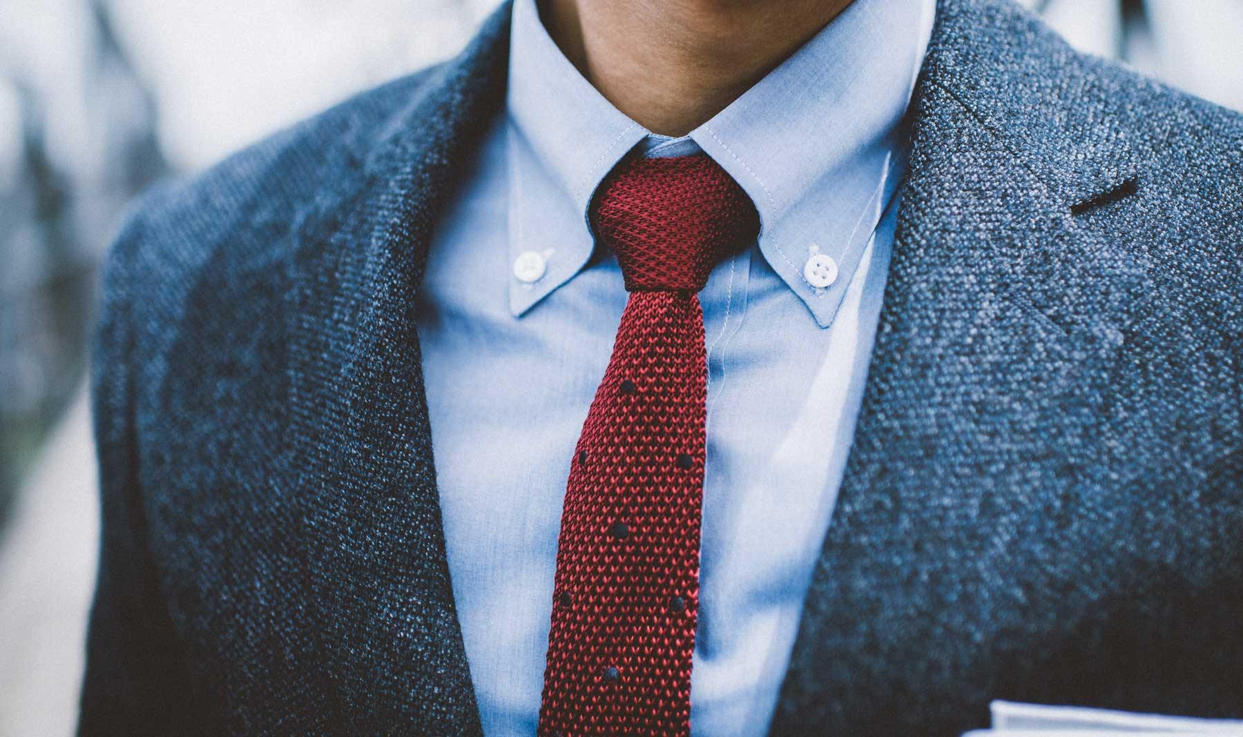 Button Down Collar with a Jacket