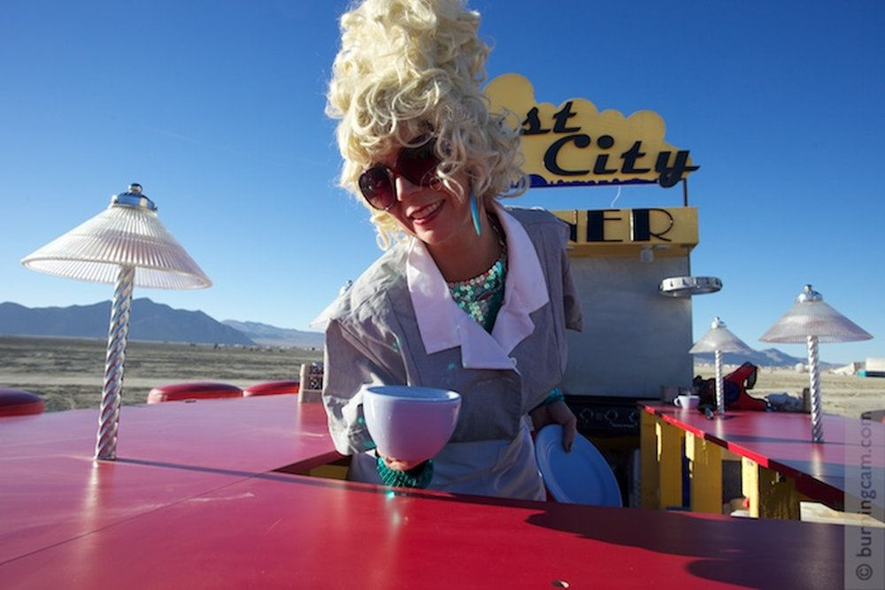 Dust City Diner by David Cole and Michael Brown – art of burning man 2016