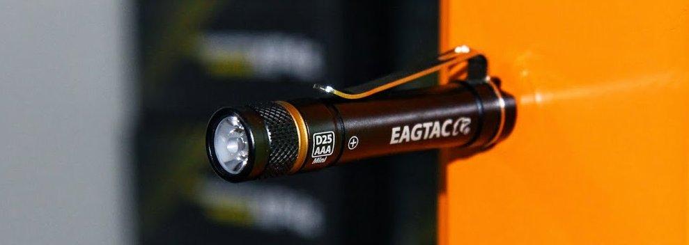 Eagtac d25aaa edc flashlight