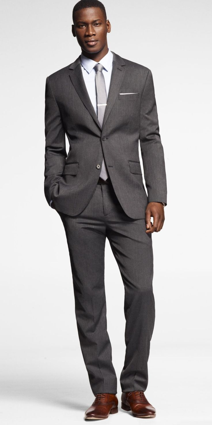 Gray Suit with Brown Shoes Style Guide: How To Wear A Gray Suit With Brown Shoes