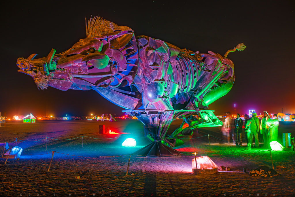 Bryan Tedrick's Wild Boar at Burning Man 2016