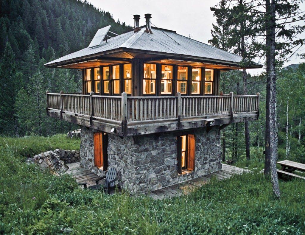 Mini-Double Loft Rock House – tiny home