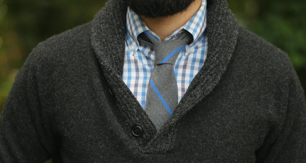 Patterned Button Down Collar