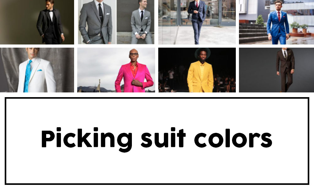 Suit colors based on skin color