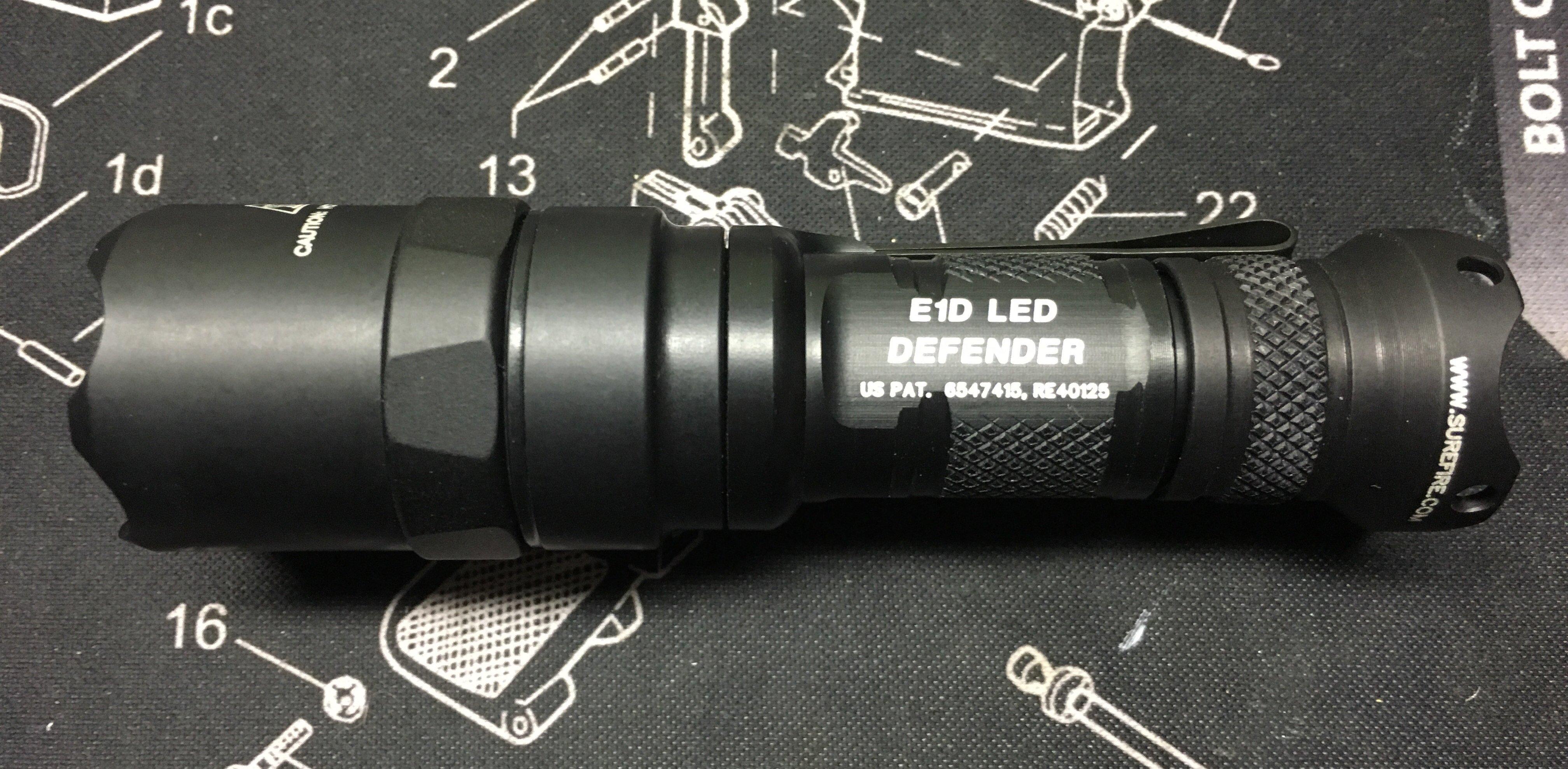 Surefire e1d defender edc flashlight