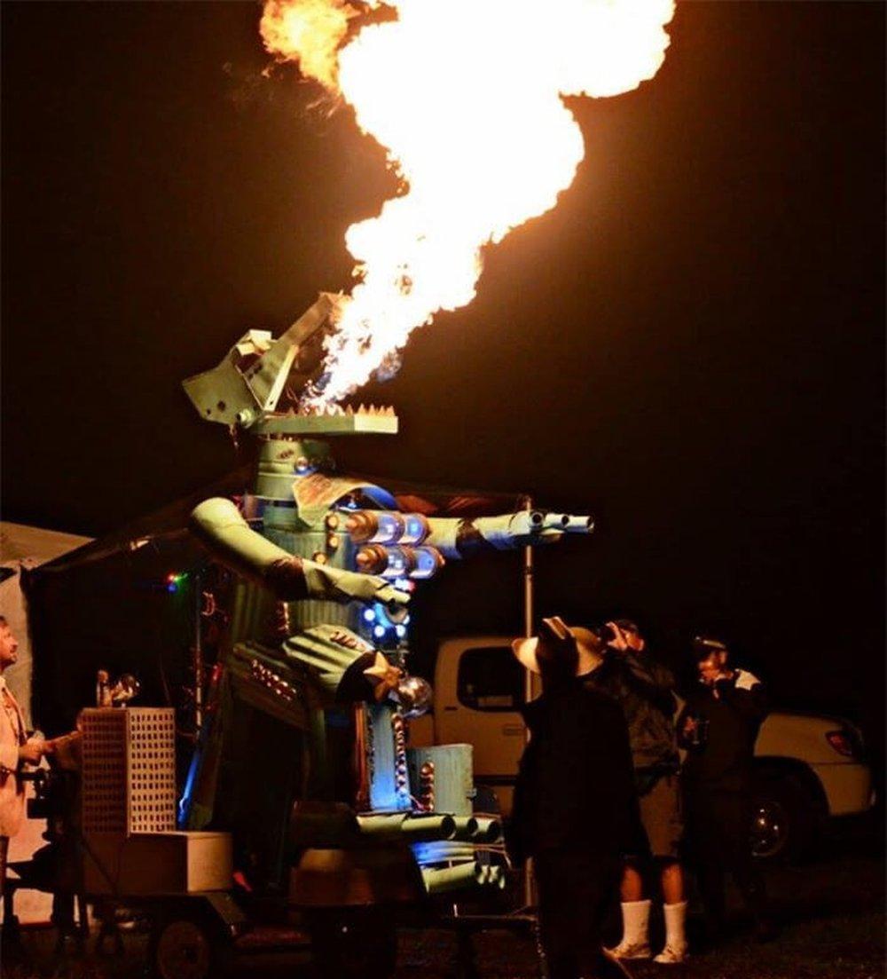 The MechaGator by Ryan S. Ballard – art of burning man 2016