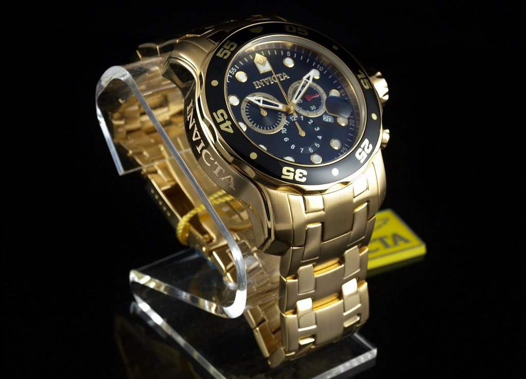 0072 Chronograph 18k Gold-Plated – invicta watch