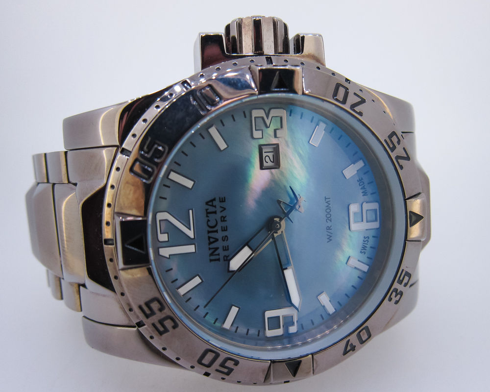 0515 Blue Mother-Of-Pearl Stainless Steel Watch – invicta watch