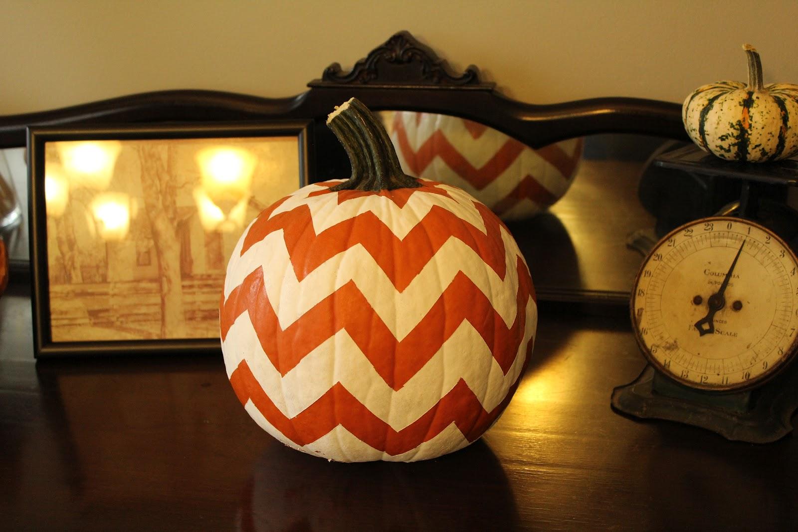 Chevron – pumpkin carving halloween