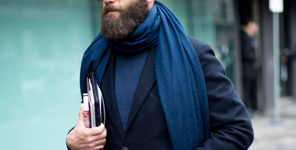 Double Loop – how to wear a scarf men
