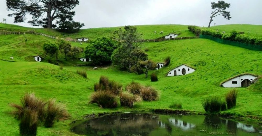 New Zealand Hobbit House Town