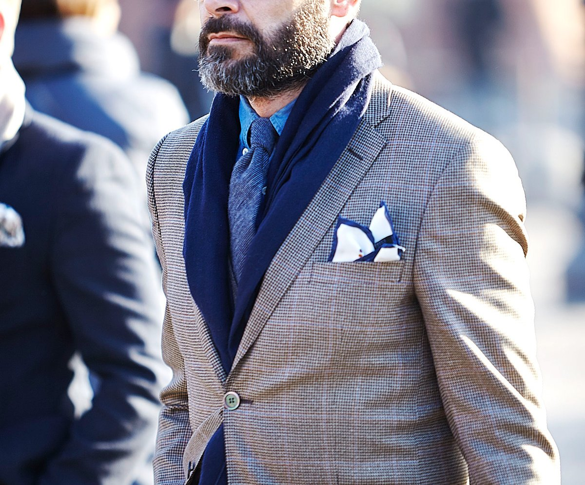 Masculine – how to wear a scarf men