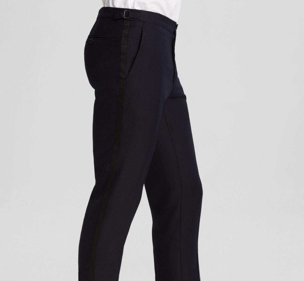 Pants – tuxedo vs suit