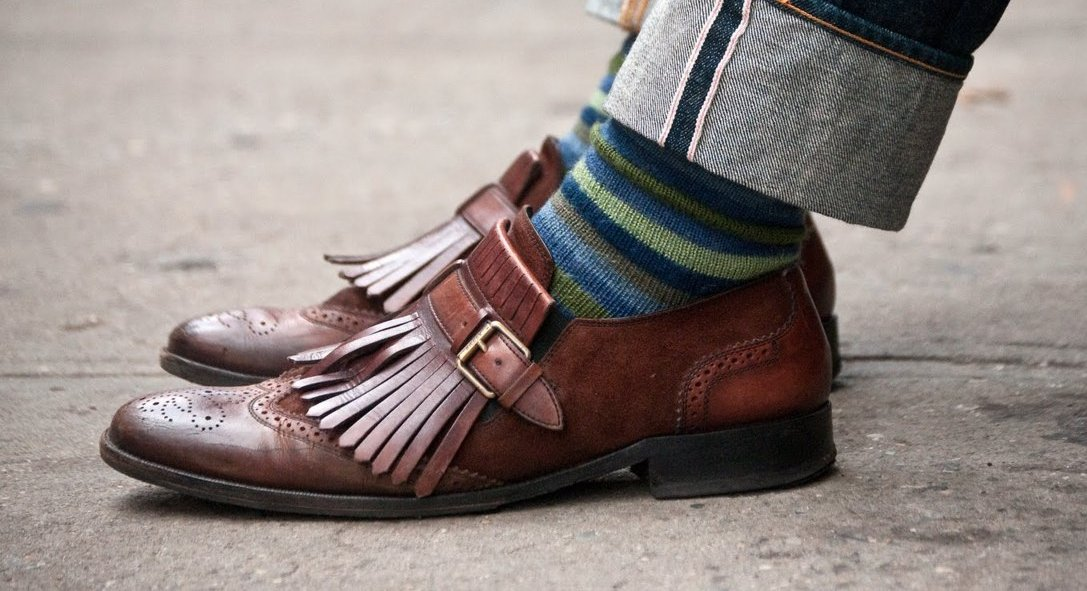 Patterned Socks – dress shoes with jeans