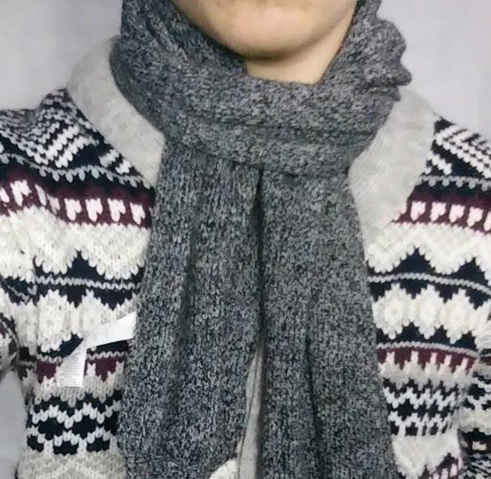 Reverse Drape Tuck – how to wear a scarf men