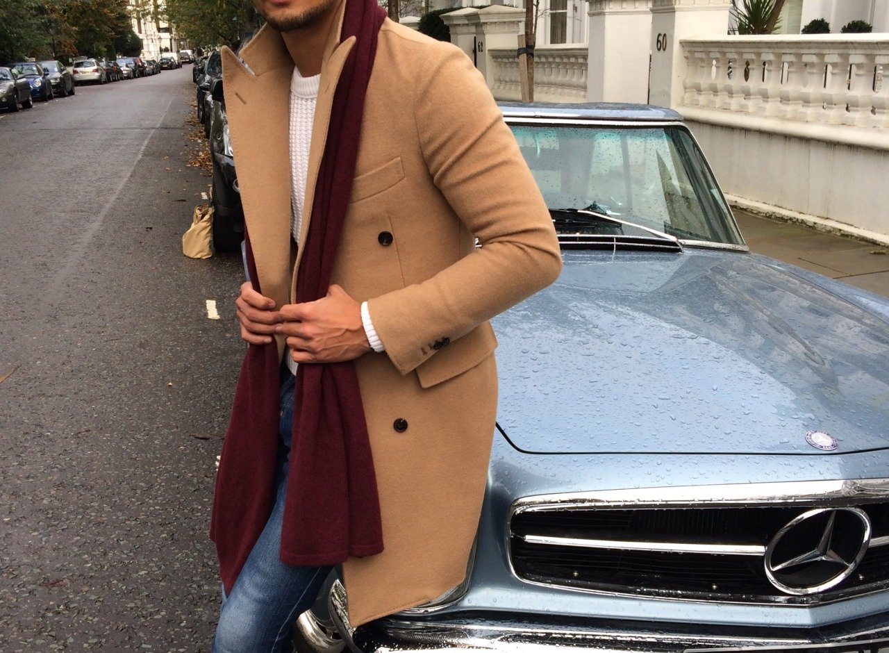 Simple – how to wear a scarf men